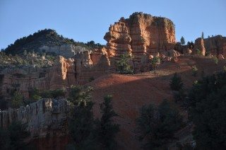 Red Canyon Area in Early Morning Light