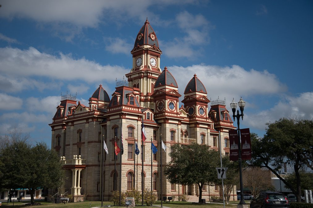 We took a Vantasy Tour to Lockhart, TX for a walking tour of the downtown area to view and be told about the various movies and commercials that were filmed there. It was a beautiful day and I was able to get some pretty stunning shots of the courthouse and other buildings.