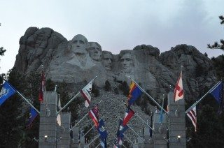 Mt. Rushmore in early evening