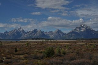 The Grand Tetons from Jackson Lake Lodge