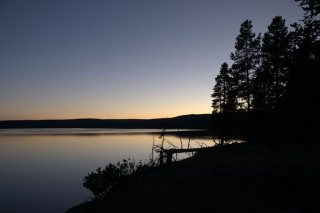 Sunset Over Yellowstone Lake