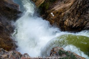 The Brink of the Lower Falls of the Yellowstone River