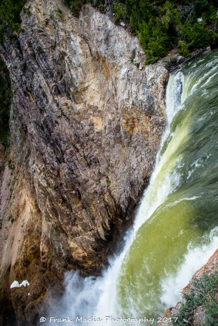 Brink of the Lower Falls of the Yellowstone River 2 Portrait
